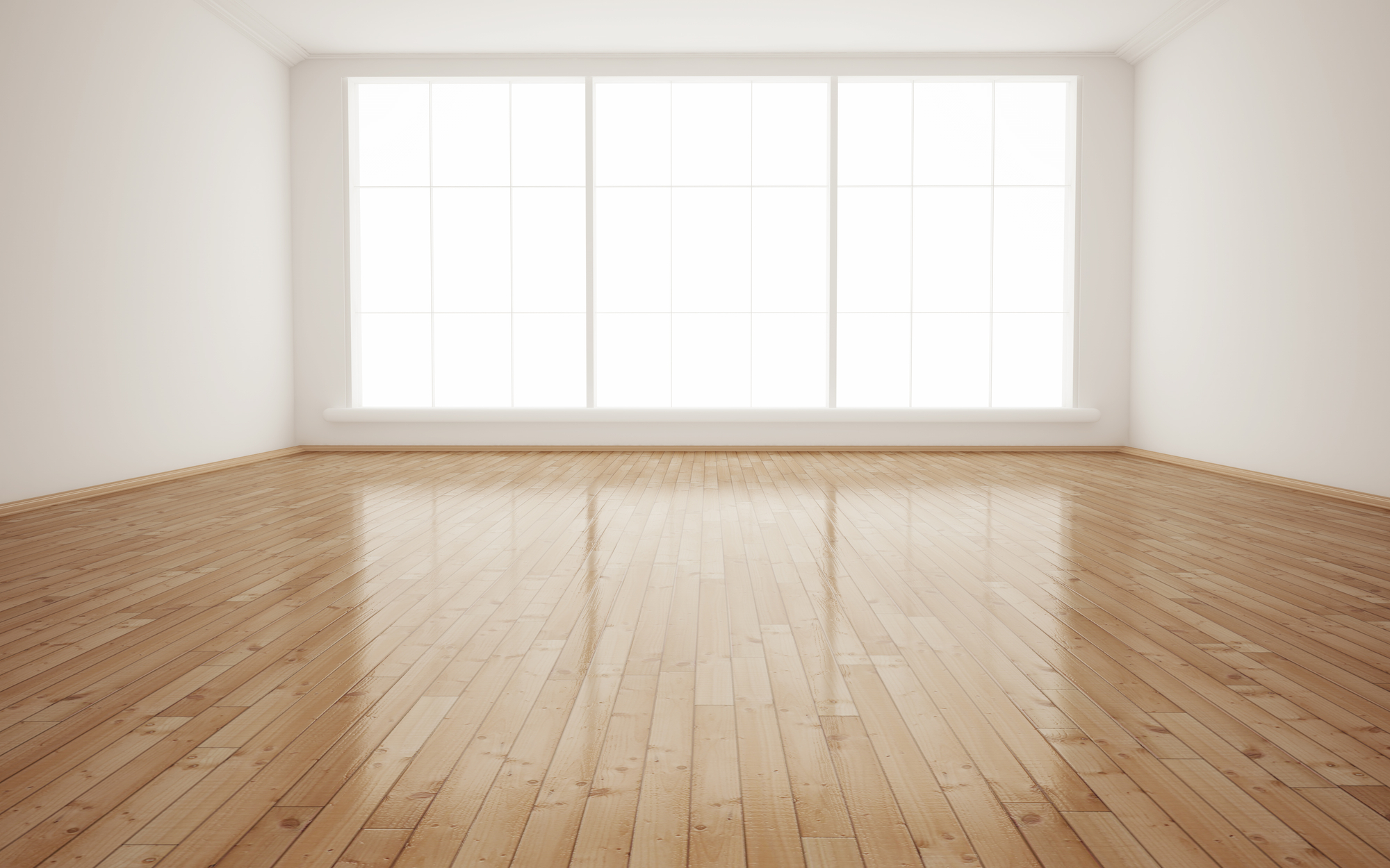 Bright Interior Empty Room 3D render