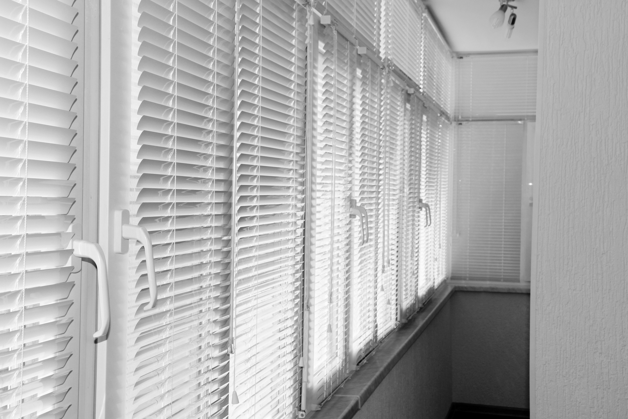 Balcony windows with shutters